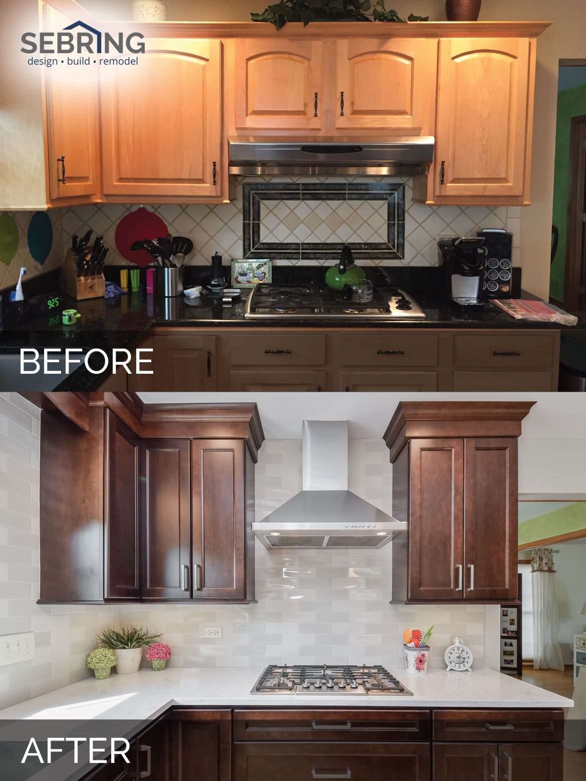 Sue & Russell's Kitchen Before & After Pictures