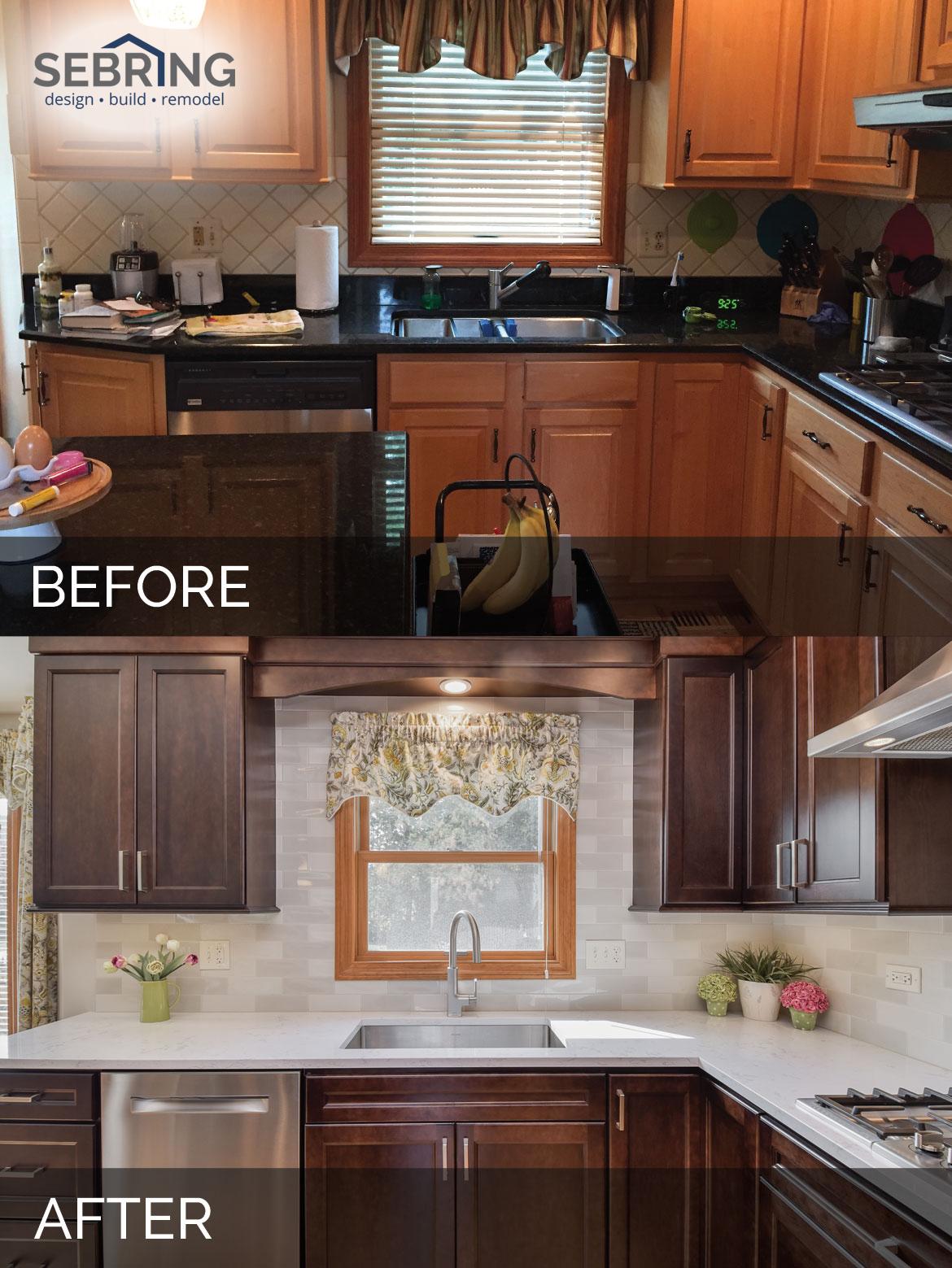 Kitchen Remodel Lisle Before & After - Sebring Design Build