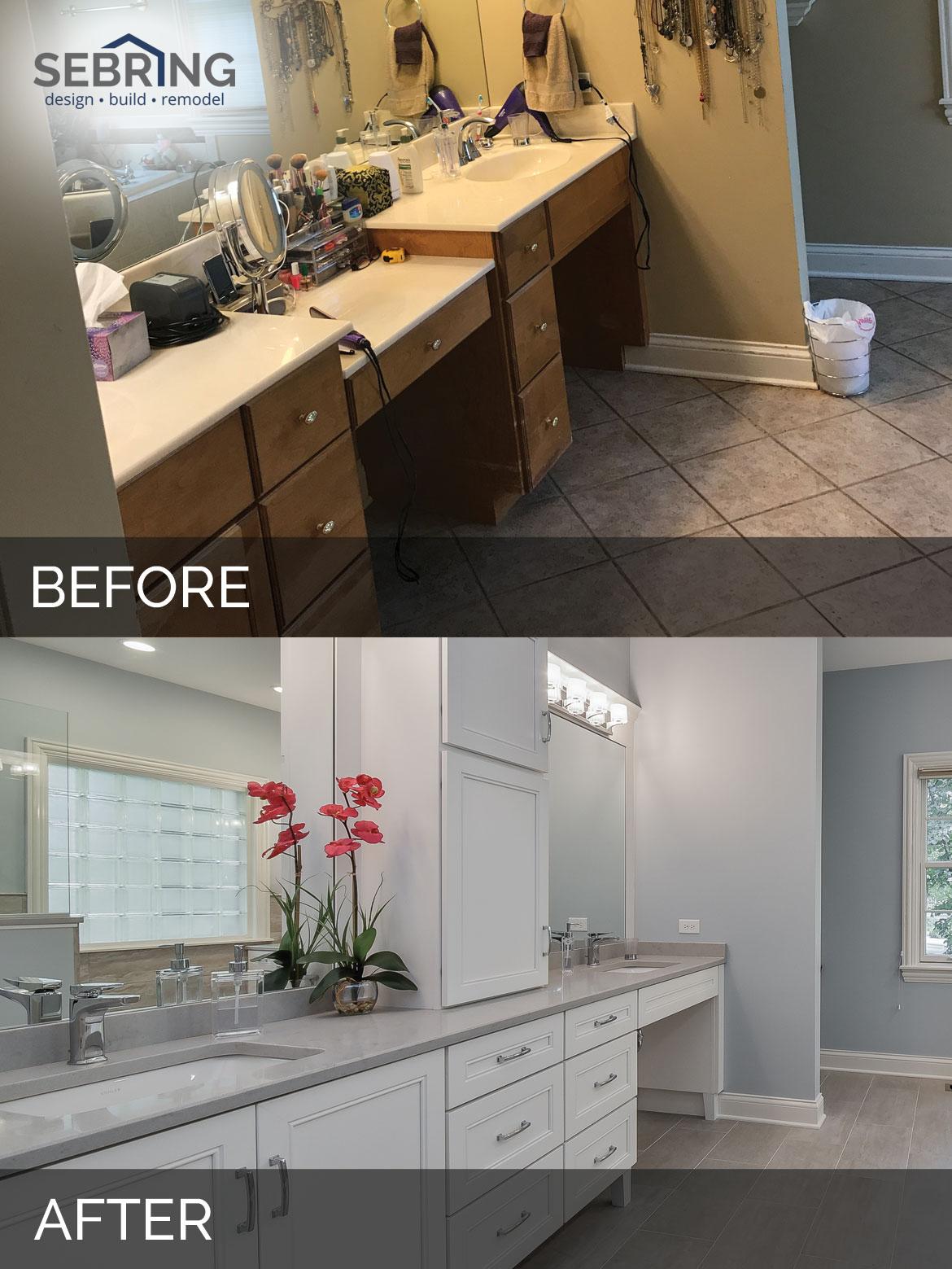 Before & After Bathroom Naperville - Sebring Design Build