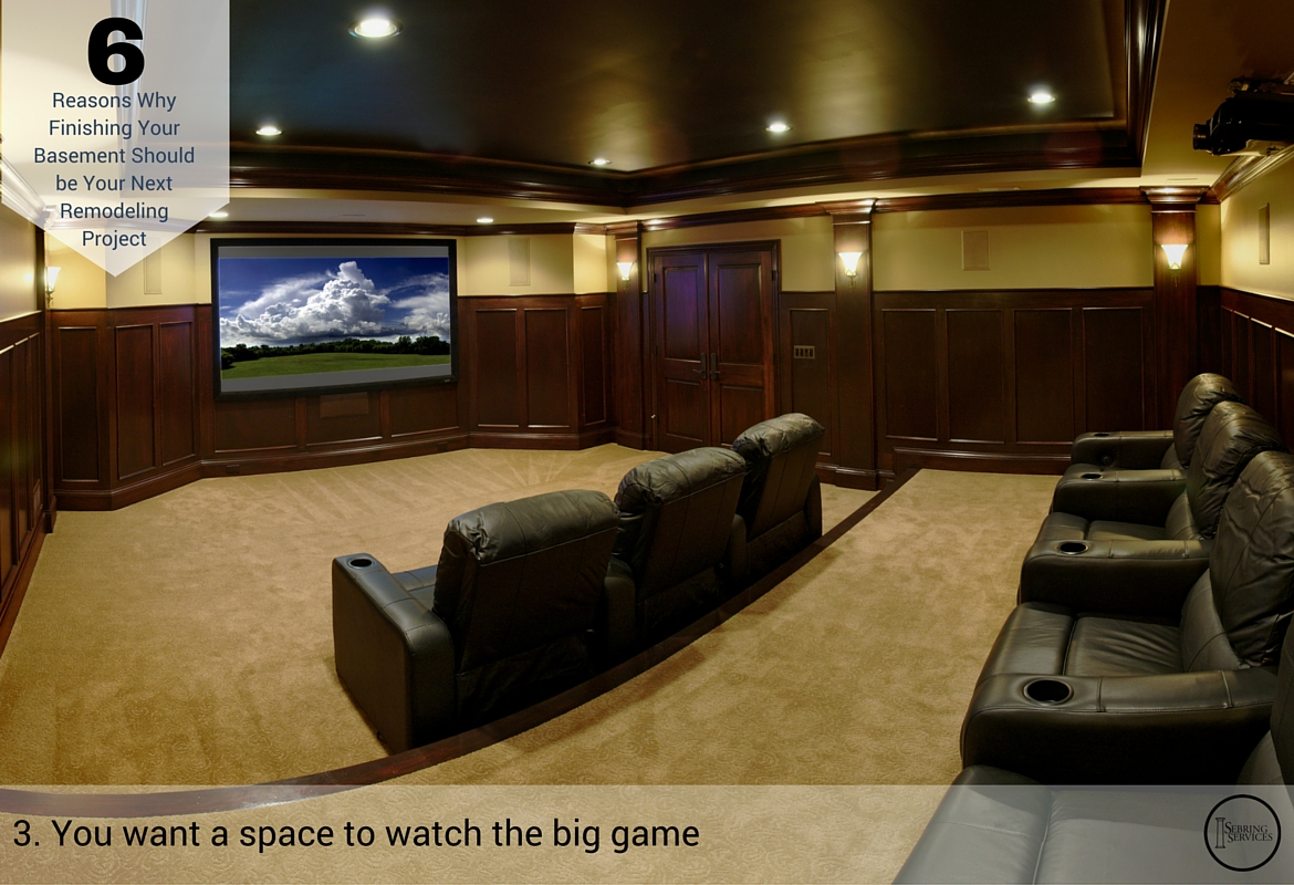 Reasons Why Finishing Your Basement Should be Your Next Remodeling Project