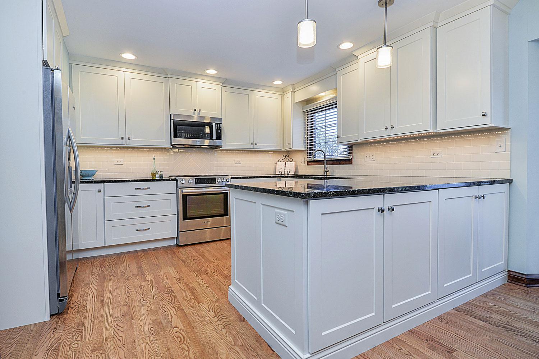 Kitchen Remodeling Ideas White Cabinetry Dark Granite Aurora Naperville IL  Illinois Sebring Services ...