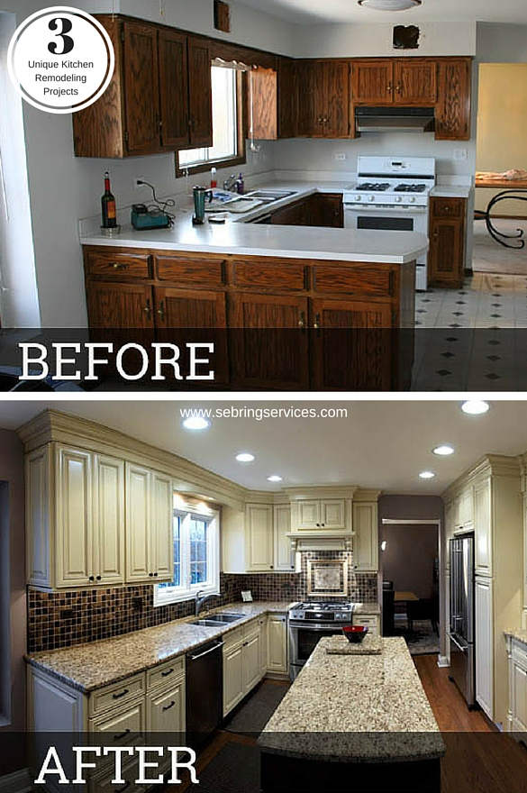 Before And After Small Kitchen: Before & After: 3 Unique Kitchen Remodeling Projects