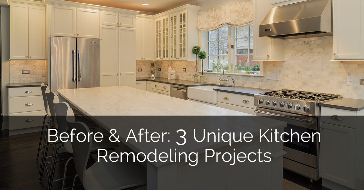 Before After 3 Unique Kitchen Remodeling Projects