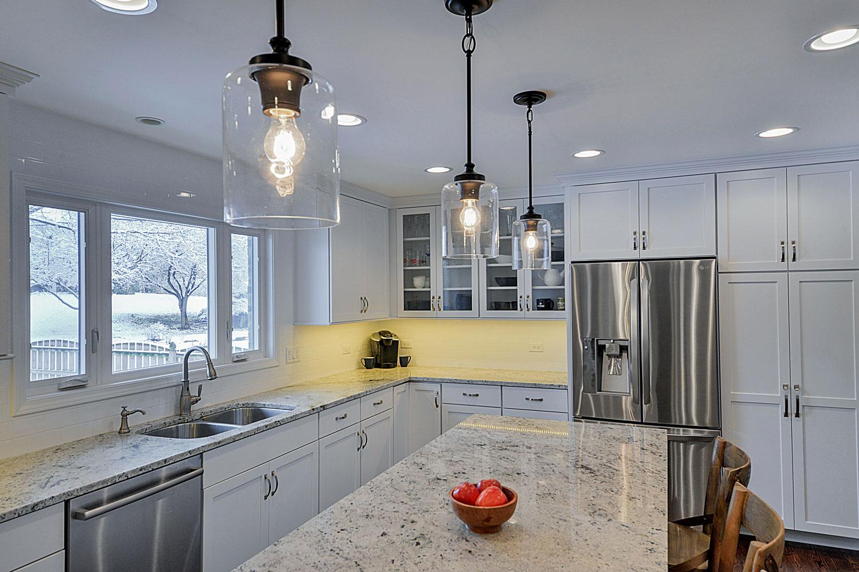 Kitchen Remodeling Ideas White Cabinetry White Quartz Aurora Naperville IL Illinois Sebring Design Build