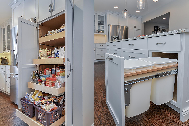 Kitchen Remodeling Ideas White Cabinetry White Quartz Aurora Naperville IL Illinois Sebring Services