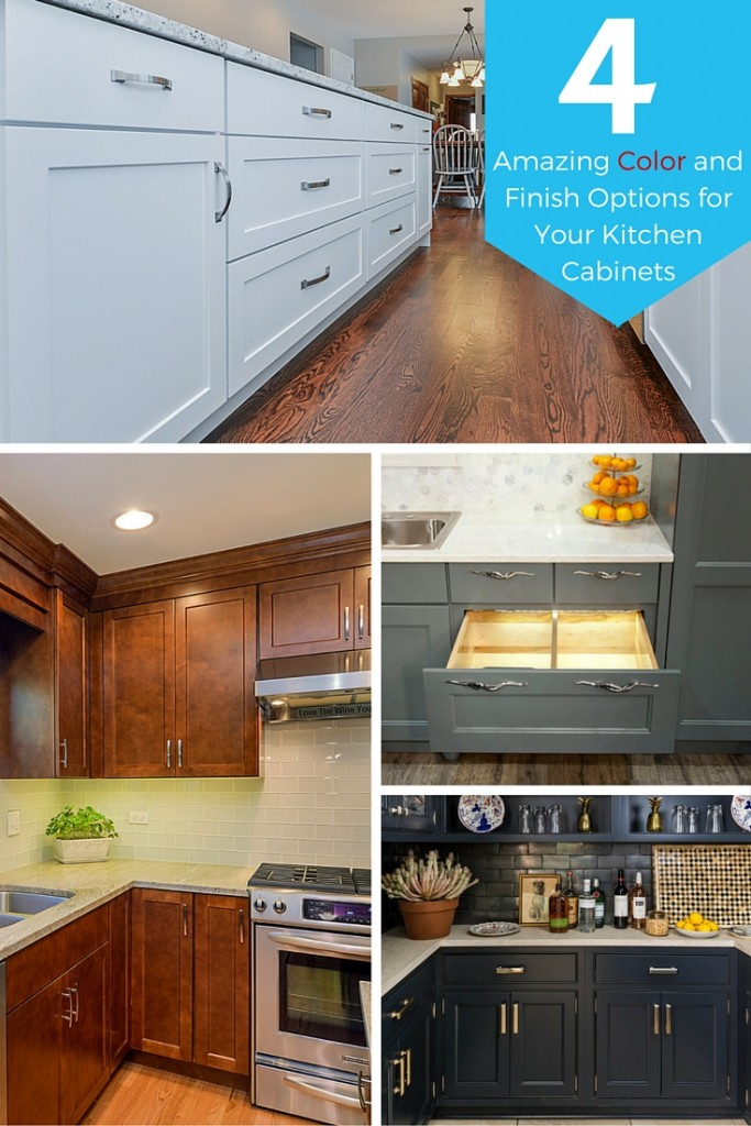 Four Amazing Color and Finish Options for Your Kitchen Cabinets