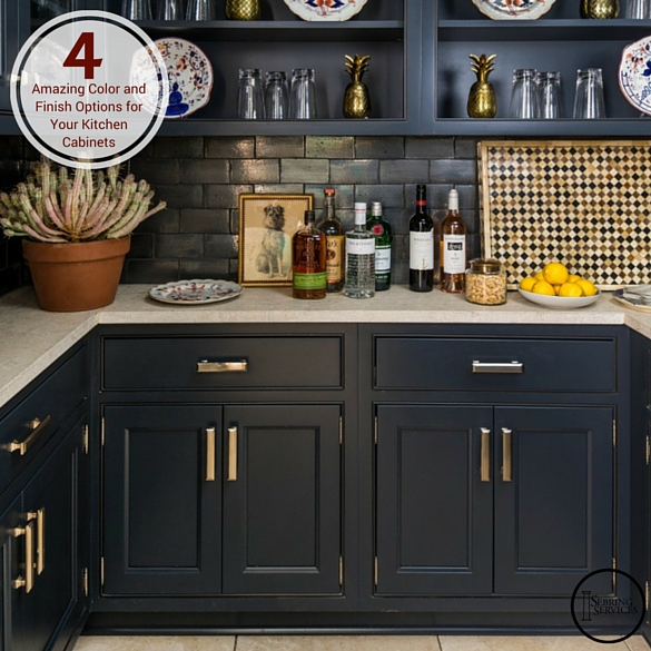Black Kitchen Cabinets What Color On Wall: 4 Amazing Color And Finish Options For Your Kitchen