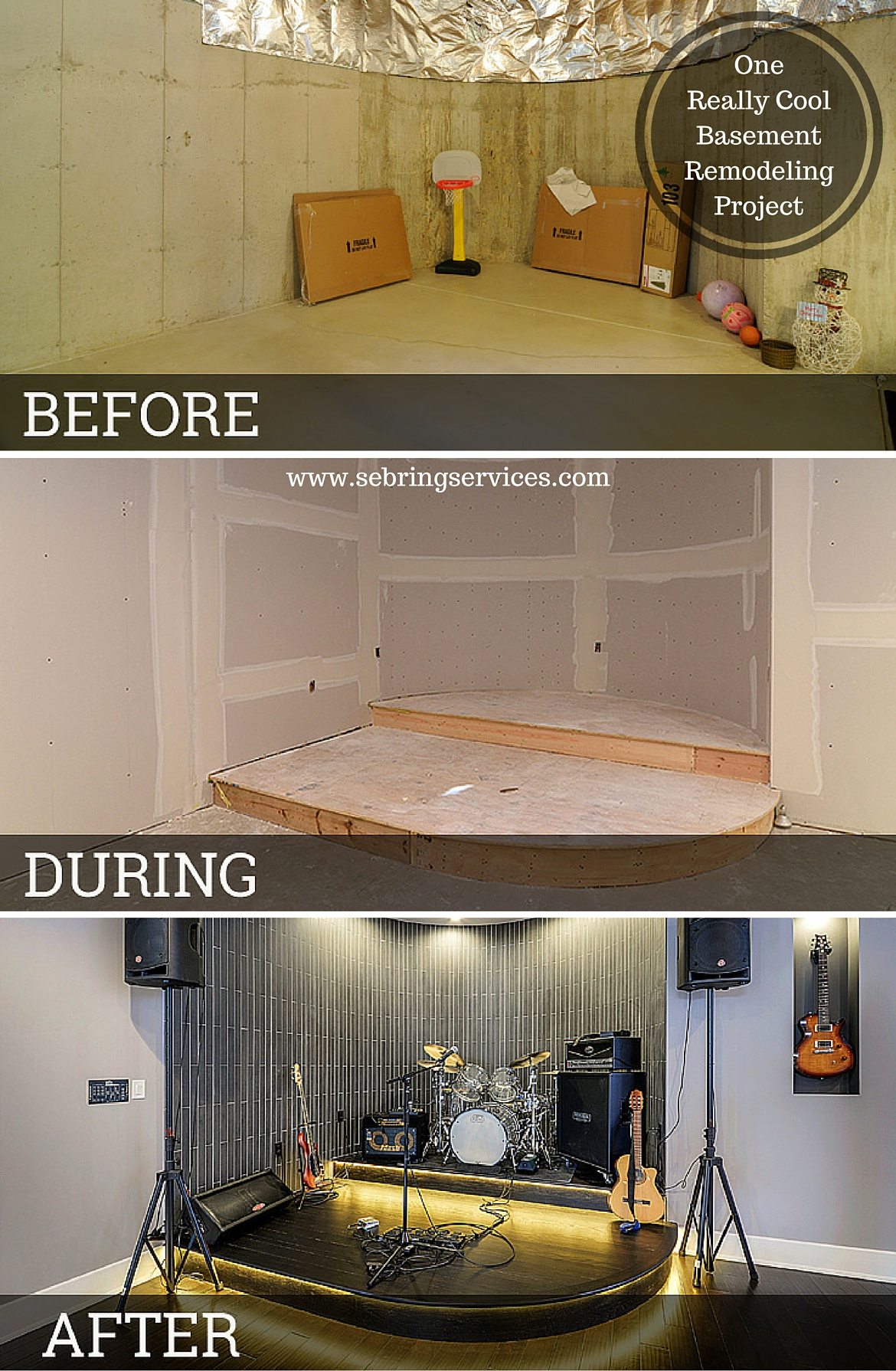 Before & After: One Really Cool Basement Remodeling