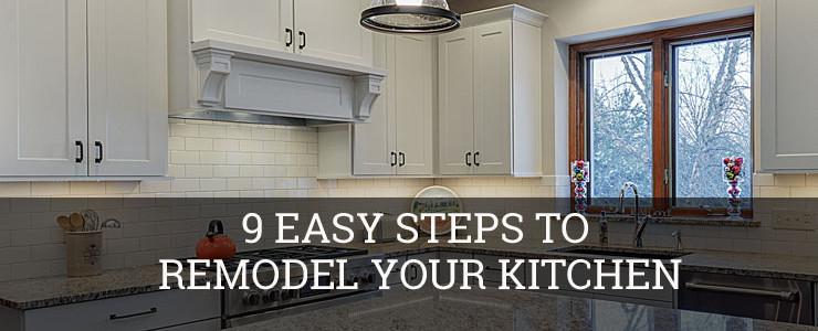 9 easy steps to remodel your kitchen sebring services - Easy steps for a kitchen makeover ...