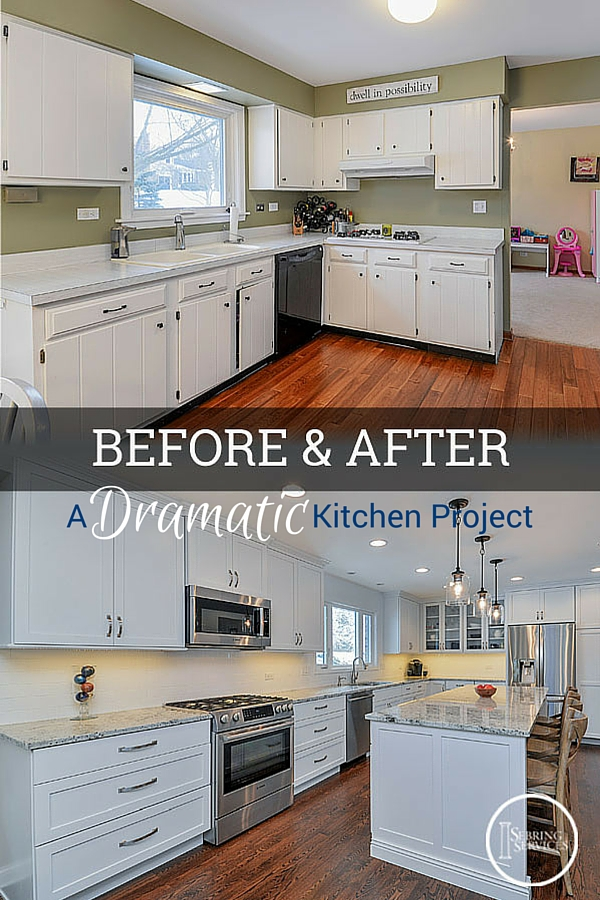 before after a dramatic naperville kitchen renovation - Before And After Kitchen Renovations