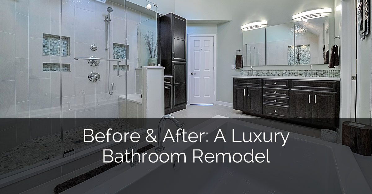 before after a luxury bathroom remodel home remodeling contractors sebring design build - Luxury Bathroom