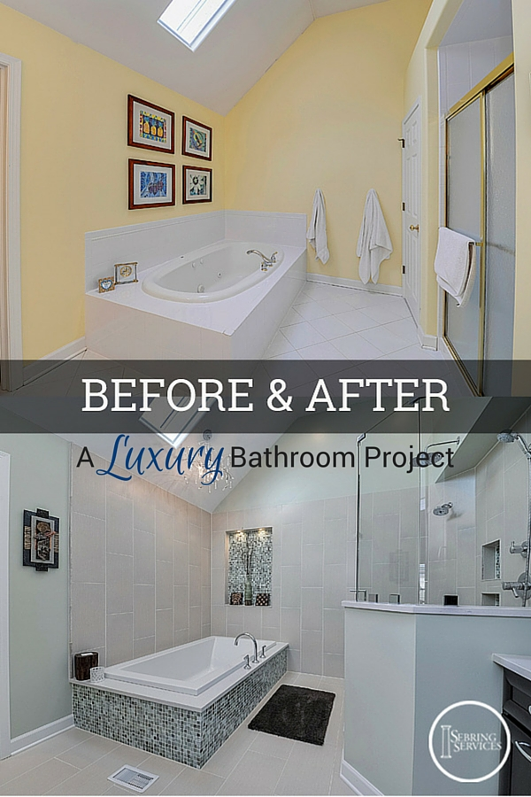 before after a luxury bathroom remodel home