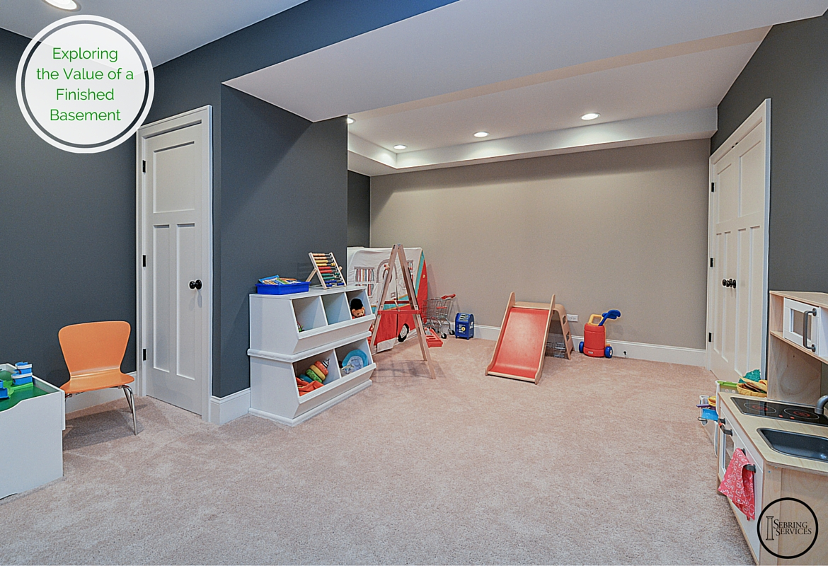 Basement Ideas For Kids Area. Exploring the Value of a Finished Basement Sebring Services  Home Remodeling