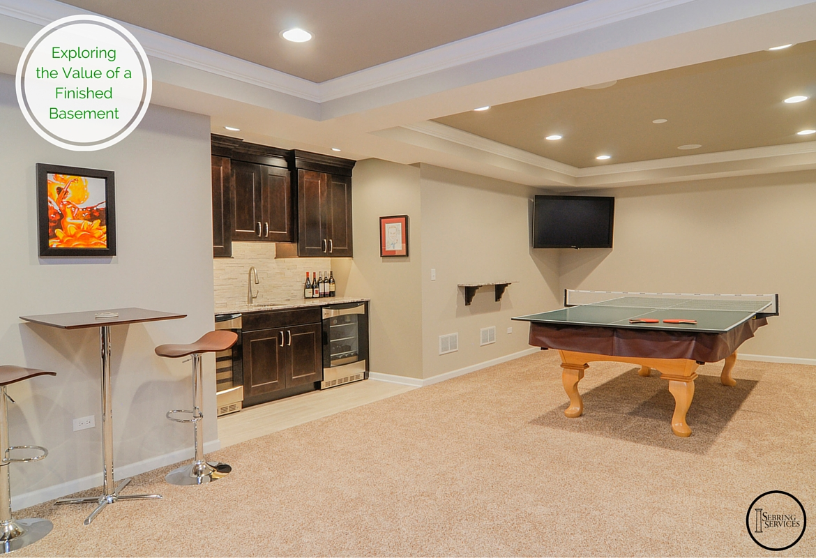 Exploring the value of a finished basement home - Bar room pictures ...