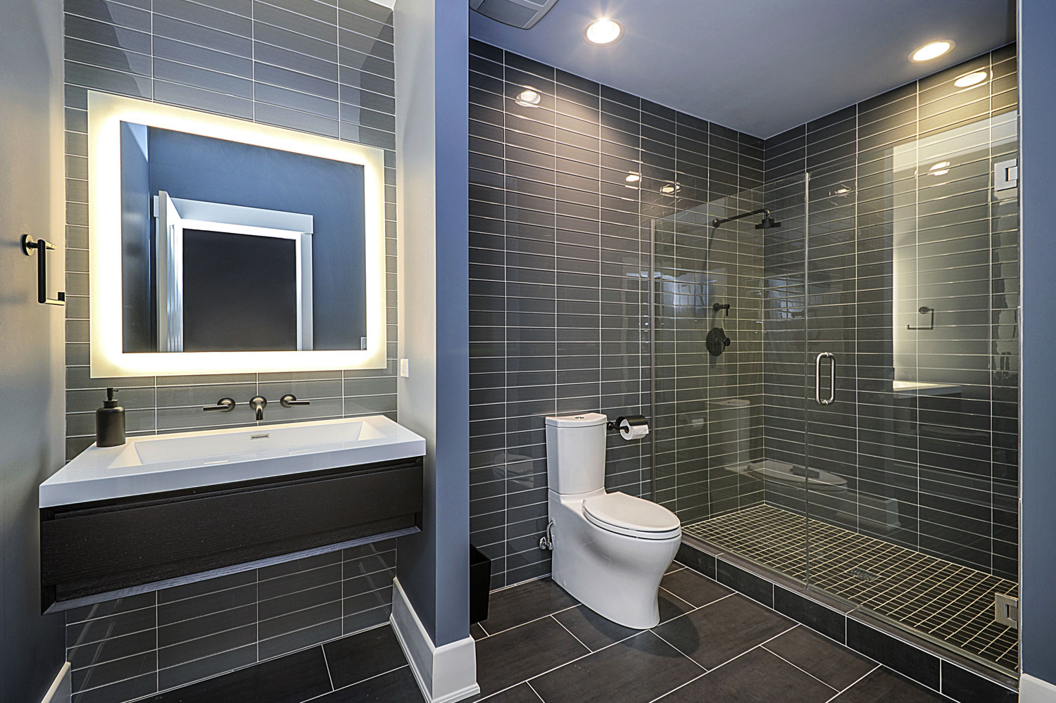 ... Basement Hall Guest Bathroom Remodel Naperville   Sebring Design Build