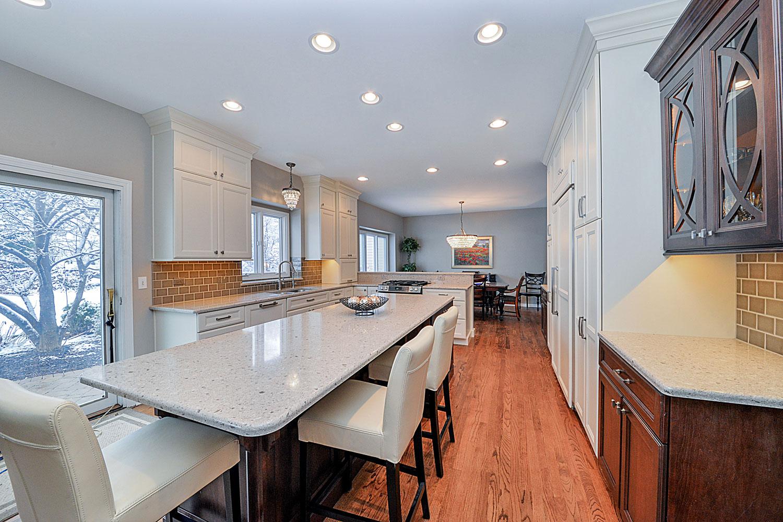 Kitchen Remodeling Ideas Dark Cabinetry White Quartz Aurora Naperville IL Illinois Sebring Design Build