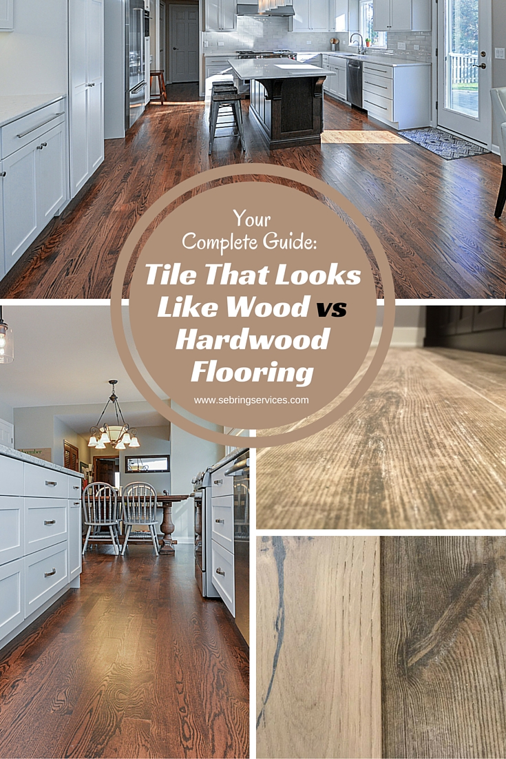 tile that looks like wood vs hardwood flooring home remodeli