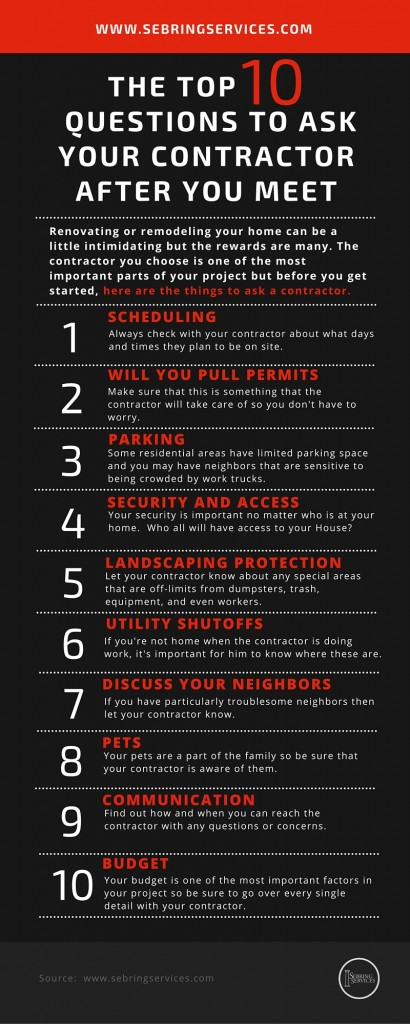 The Top 10 Questions to Ask Your Contractor After You Meet Sebring Services