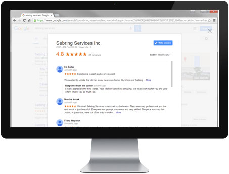Google Review - Sebring Services