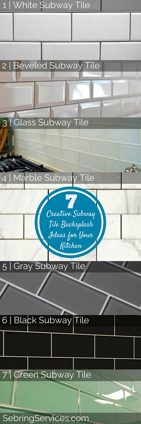 Creative Subway Tile Backsplash Ideas for Your Kitchen - Sebring ...