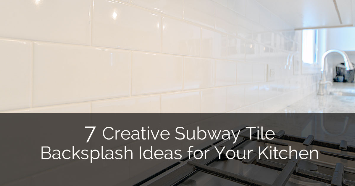 7 creative subway tile backsplash ideas for your kitchen home remodeling contractors sebring - Creative tile kitchen backsplash ideas ...