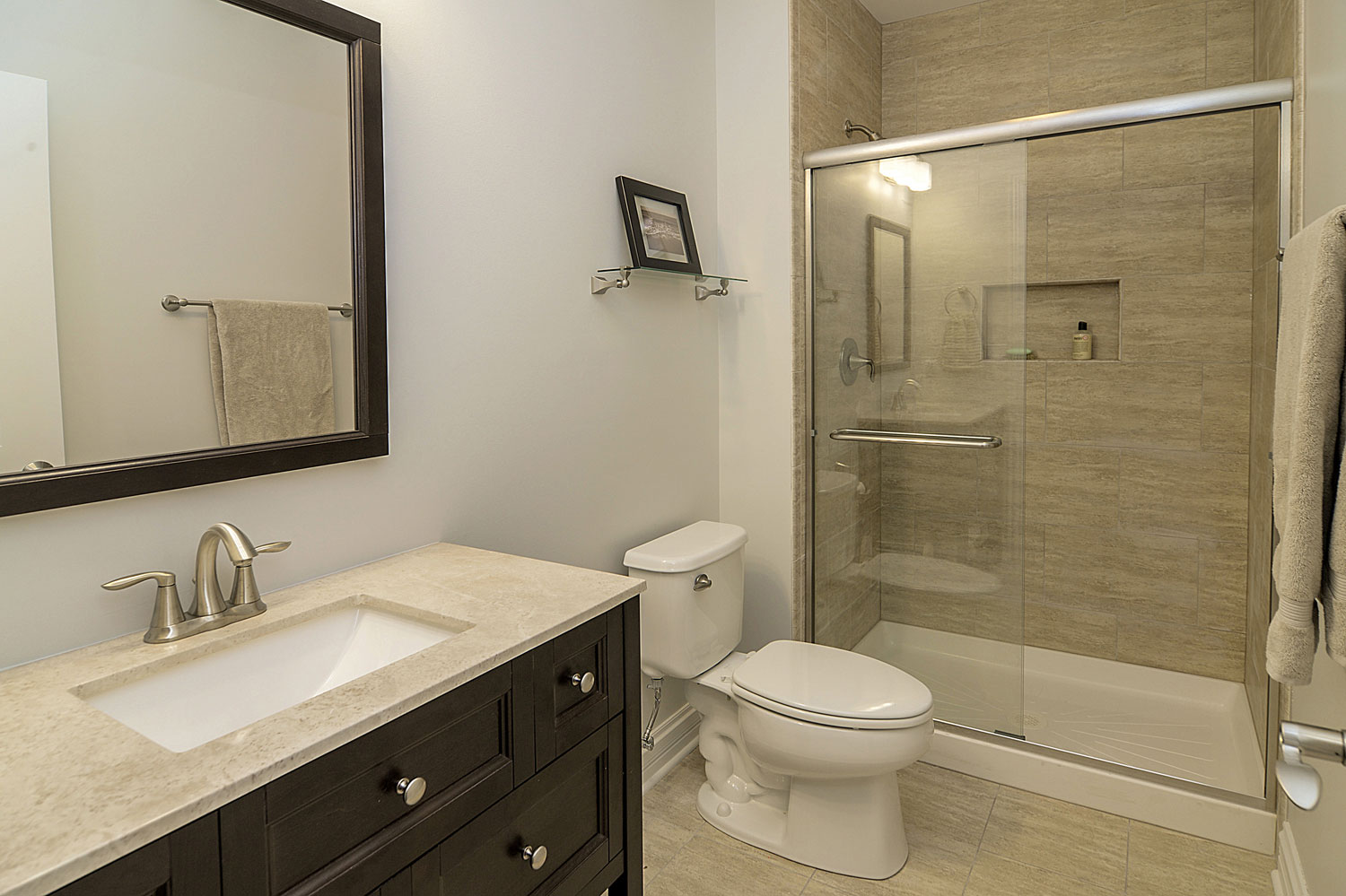 wainscoting ideas for bathrooms pictures - Steve & Emily s Hall Bathroom Remodel