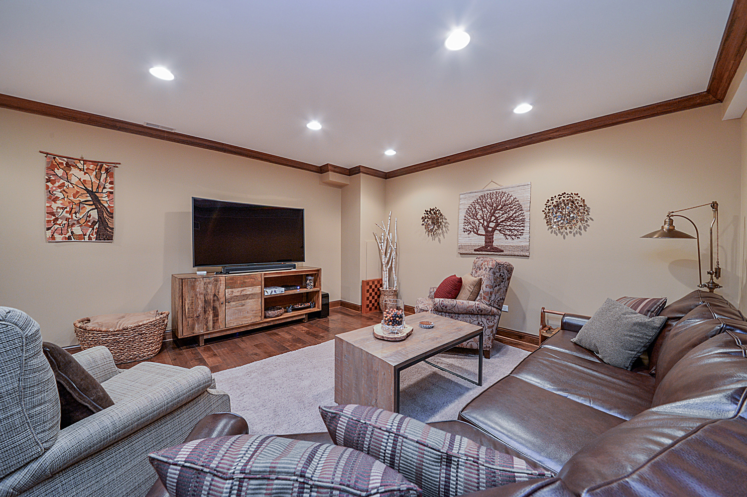 ... TV Room Finished Basement Remodeling Ideas West Chicago IL Sebring  Services