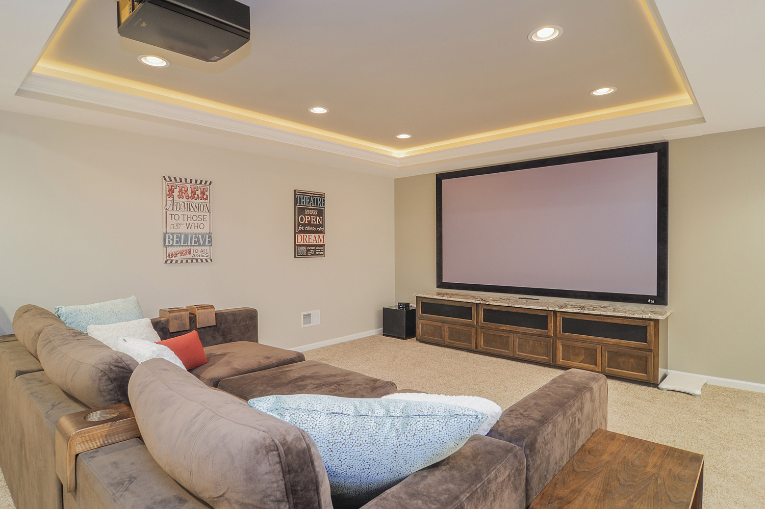 Geoff lisa 39 s basement remodel pictures home remodeling contractors sebring services - Basement design services ...
