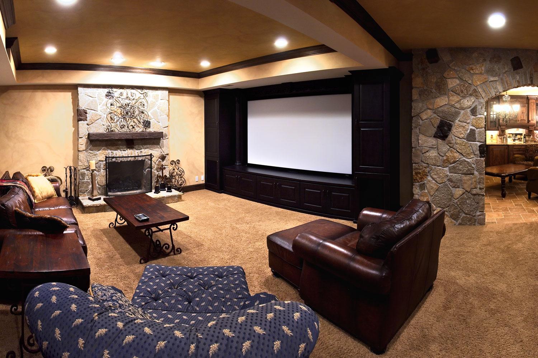 Michael debrah 39 s basement remodel home remodeling contractors sebring services - Basement theater ideas ...