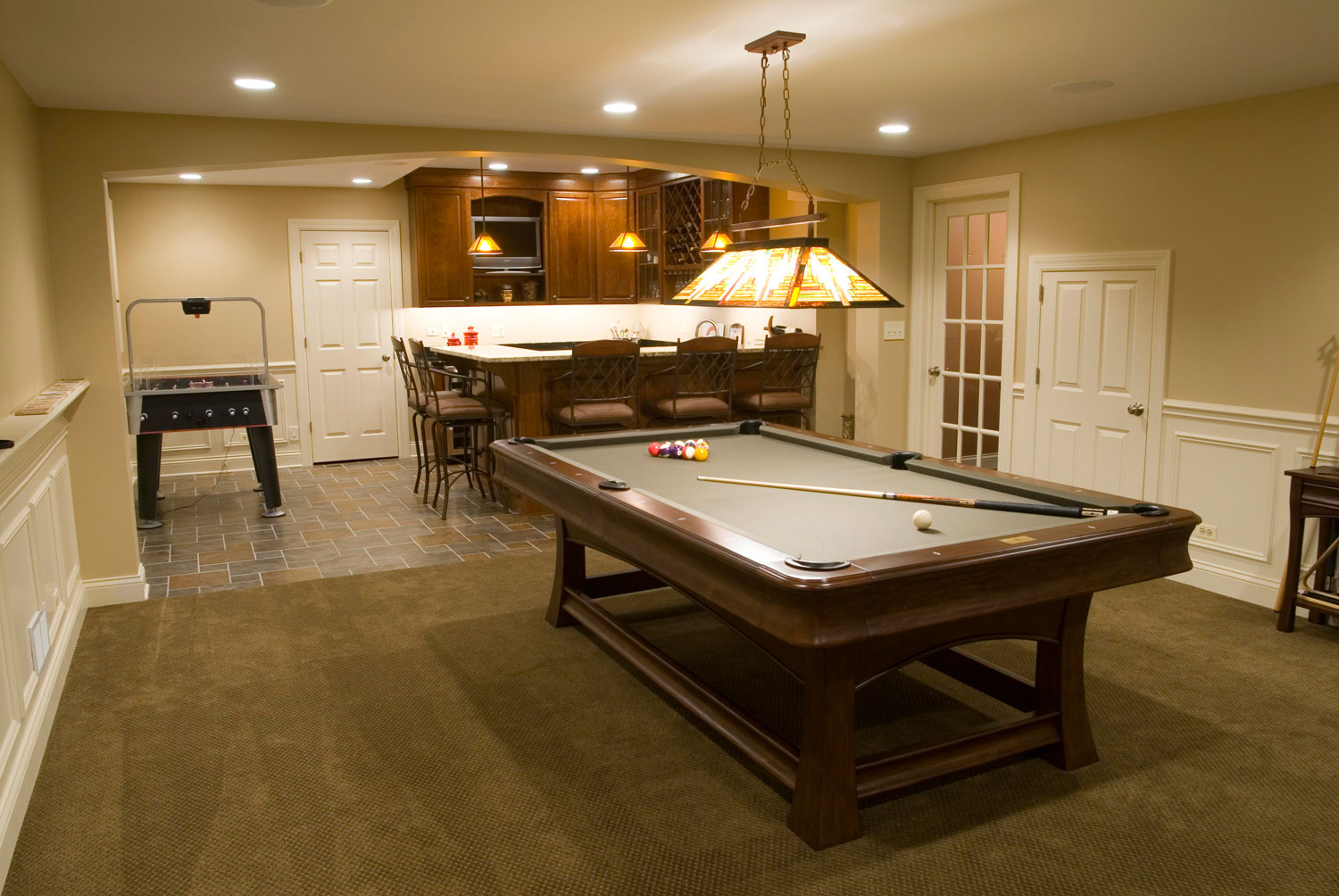 Table Finished Basement Ideas Glen Ellyn Wheaton IL Sebring Services