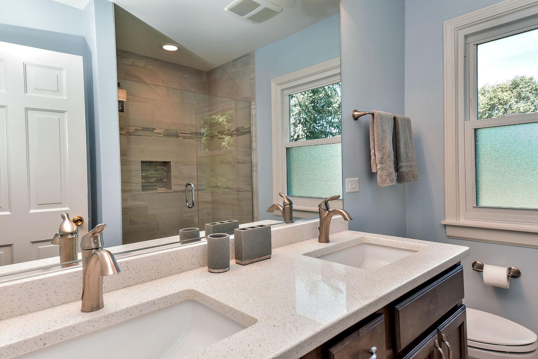 Brian karen 39 s master bathroom remodel pictures home for Bathroom remodel services