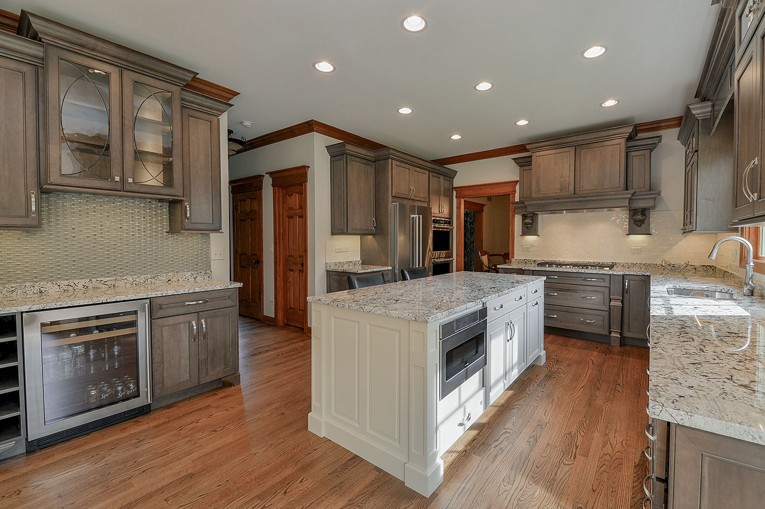 Kitchen Remodeling Ideas White Cabinetry Granite Wheaton IL Illinois  Sebring Services ...