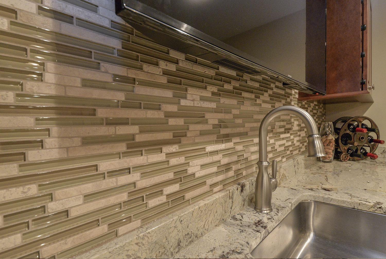 Full bar, kitchenette, bathroom Finished Basement Remodeling Geneva IL Sebring Services