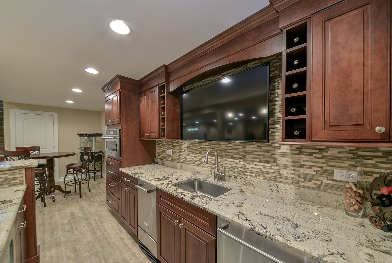 finished basement bar.  Full bar kitchenette bathroom Finished Basement Remodeling Geneva IL Sebring Services Eric Mariam s Pictures Home Contractors