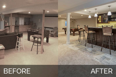 Brett Carolyn S Basement Before After Pictures Home Remodeling Contractors Sebring Design Build