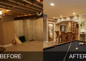 Before and After Basement Remodeling - Sebring Design Build