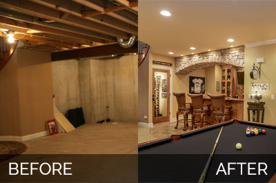 Brian Danica 39 S Basement Before After Home Remodeling Contra