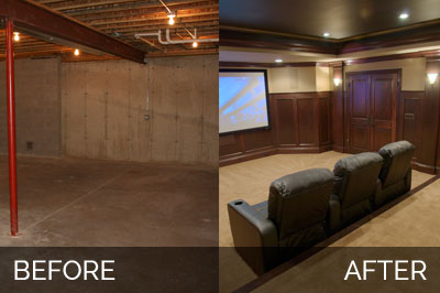 Steve Amp Elaine S Basement Before Amp After Pictures Home