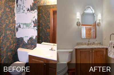 Scott Karla 39 S Powder Room Before After Pictures Home