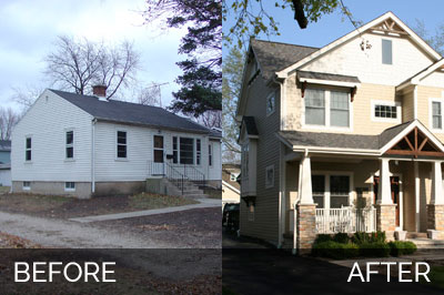 Before and After New Home Construction - Sebring Services
