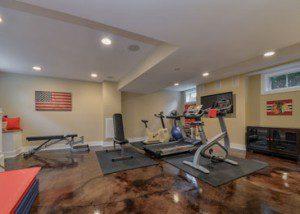 Workout Exercise Room Finished Basement Remodeling Hinsdale Sebring Design Build