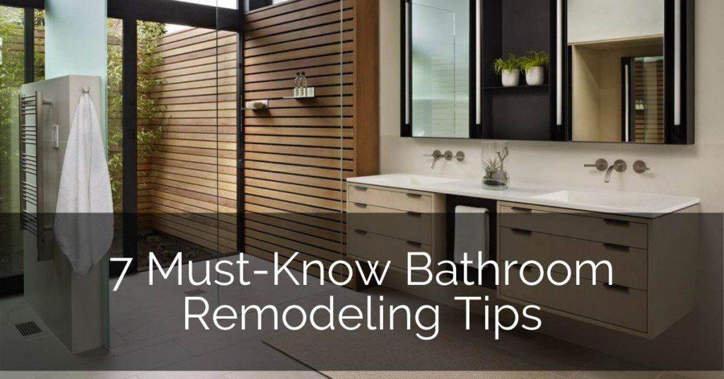 7 Must Know Bathroom Remodeling Tips Home Remodeling Contractors Sebring Design Build