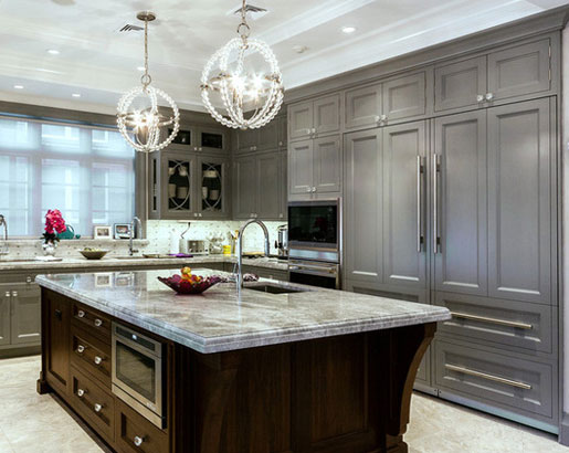 The psychology of why gray kitchen cabinets are so popular for Grey and brown kitchen