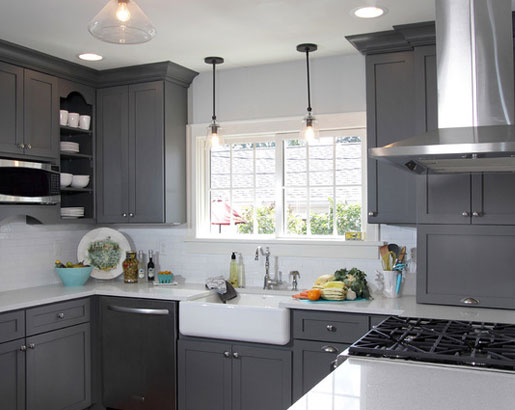 Kitchen Cabinets Gray the psychology of why gray kitchen cabinets are so popular | home