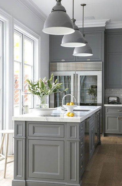 The Psychology Of Why Gray Kitchen Cabinets Are So Popular Home - Grey and white cupboards