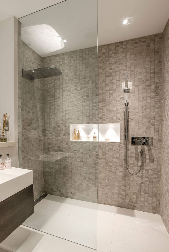 27 walk in shower tile ideas that will inspire you home for Bathroom ideas for couples