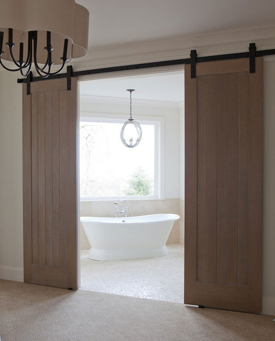 63 Awesome Sliding Barn Door Ideas | Home Remodeling ... on red wallpaper bathrooms, red tile bathrooms, white design bathrooms,
