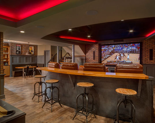 45 amazing luxury finished basement ideas home for Home bar lounge ideas