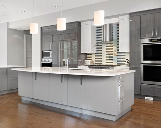 Contemporary Gray Kitchen Cabinets the psychology of why gray kitchen cabinets are so popular | home