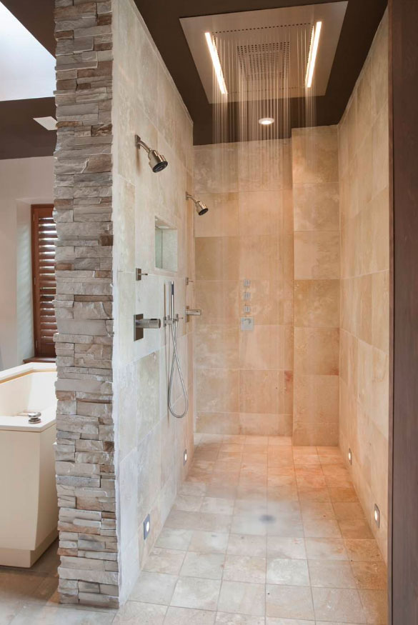 medium bathroom size with tiles and ideas stall combinating floor stone shower of